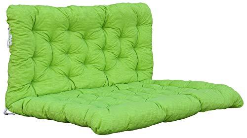 Chicreat Cuscino per bancale con schienale 120 x 80 cm/120 x 60 cm, verde/giallo
