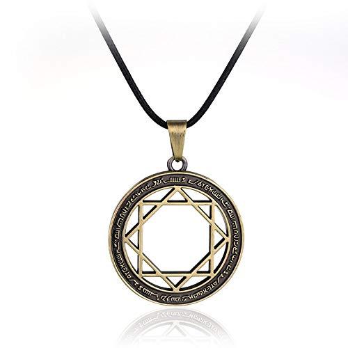 YUNMENG Collar de Estrella de Ocho Puntas para Mujeres, Hombres, Collares con Colgante, dijes, joyería, Collares para niñas Adolescentes