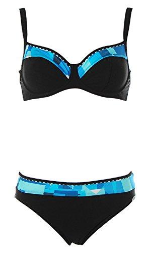 Sunflair Damen Bügel Bikini (Blau, 36 Cup D)
