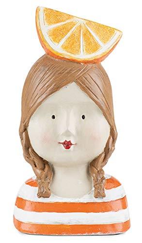 baden import Aufsteller Deko Kopf Frauenkopf Ladykopf Orange Büste Figur