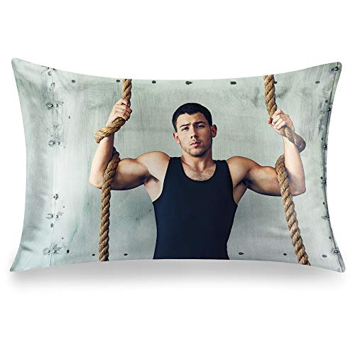Nick Jonas Pillowcase 20 x 30 inches,Double-Sided Printed Pillow Cover, Zippered Pillow Case-1 Pack