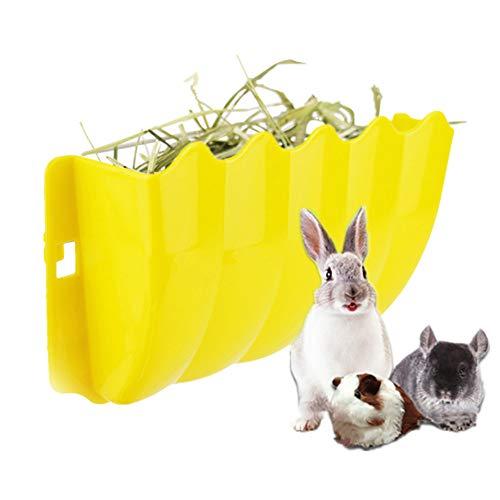jieqing Accesorios Conejos Mascotas Heno Conejos Pequeño Animal alimentador Hámster Alimentador automático Mascotas comederos Conejo dispensador de Comida Yellow