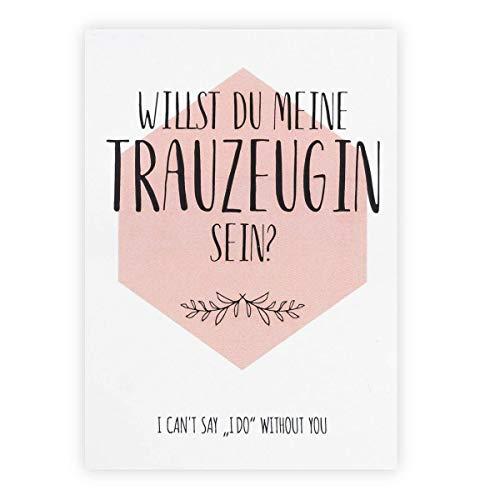 Trauzeugin fragen, Postkarte Trauzeugin, I can't say i do without you, Geschenk für Trauzeugin