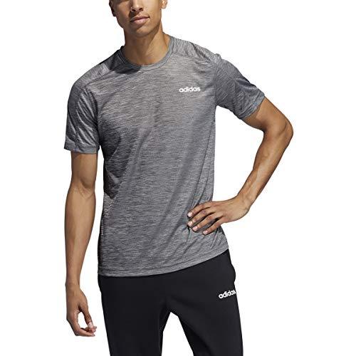 adidas Men's Designed 2 Move Heathered Training Tee, Black Melange, X-Large