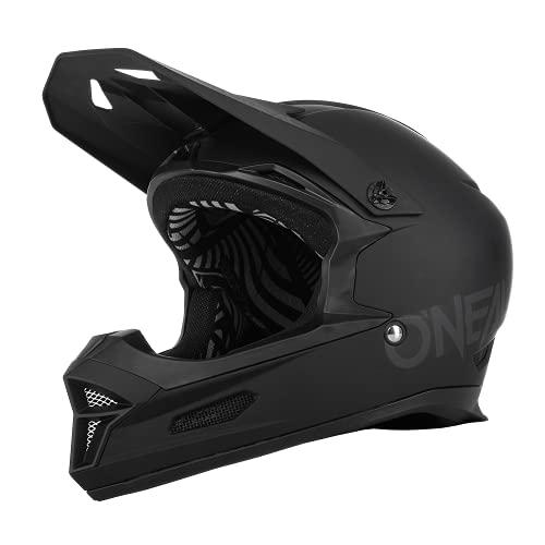 O\'NEAL   Mountainbike-Helm   MTB Downhill   Nach Sicherheitsnorm EN1078, Ventilationsöffnungen für Luftstrom & Kühlung, ABS Außenschale   Fury Helmet SOLID   Erwachsene   Schwarz   Größe L
