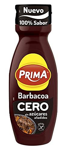 Prima - Salsa Barbacoa Cero, Sin Azúcares Añadidos, Mismo Sabor Con Menos Calorías, 325 g