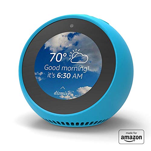 """Made for Amazon"" Mission Cables Skin for Echo Spot - Bahama Blue"