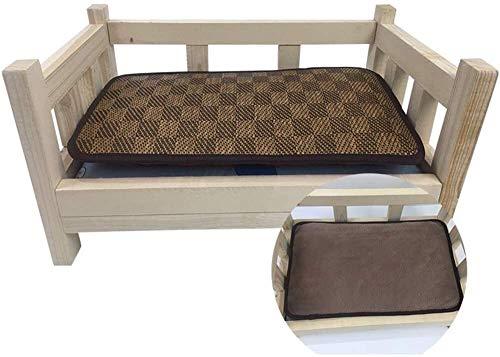 UIZSDIUZ Haustierbett Hundebett Erhöht Holz mit Matratze, for Haustiere bequemes Schlafen, Sturdy Durable Haustier Katzen Couch Katzenbett (Color : Style1, Size : XXL(L110×W66×H50cm))