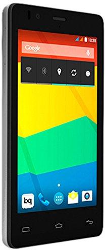 BQ Aquaris E4.5 - Smartphone libre Android (pantalla 4.5 pulgadas, cámara 8 Mp, 8 GB, Quad-Core 1.3 GHz, 1 GB RAM, Android 4.4 KitKat), blanco y negro