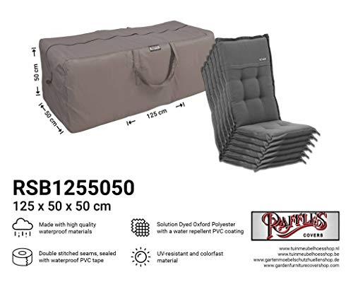 Raffles Covers NW-RSB1255050 Tuinkussens opbergtas 125 x 50 H: 50 cm Opbergtas voor tuinkussen, beschermhoes voor buitenkussens