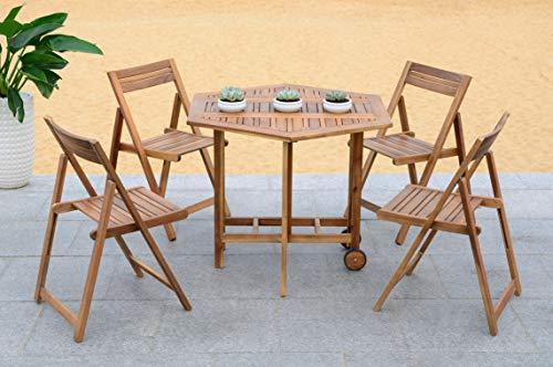 Safavieh Outdoor Living Collection Kerman Juego de 5Vajilla