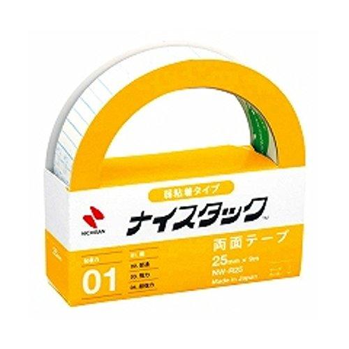 ニチバン 両面テープ ナイスタック リムカ 25mm NW-R25 きれいにはがせるタイプ 大巻 『 2 個 』