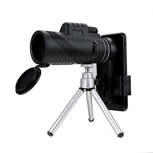 LMDZSW 40x60 Zoom HD Lente Mini telescopio monocular de visión Nocturna con trípode Clip para teléfono Binoculares de Mano