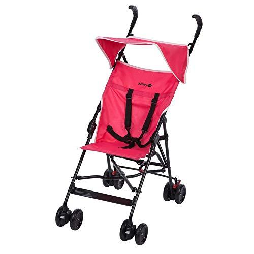 Safety 1st Peps Buggy mit Sonnenverdeck, wendiger Kinderwagen nutzbar ab 6 Monate bis max. 15 kg, kompakt zusammenfaltbar, mit Feststellbremse und 5-Punkt-Gurt, wiegt nur 4,5 kg, Pink Moon (rosa)