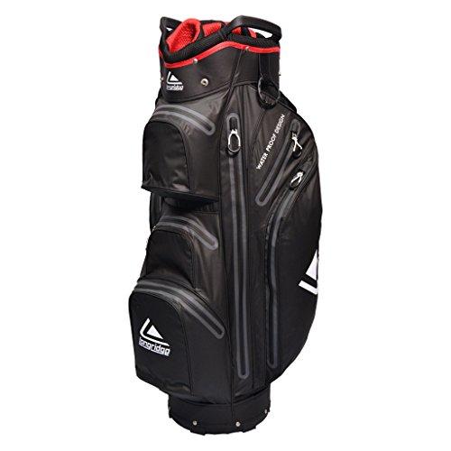 LONGRIDGE Golftasche/Cartbag Eze Kaddy, wasserdicht, 22,9cm, Schwarz/Weiß