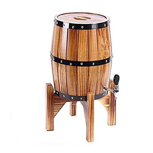 Decantador De Whisky Decantador De Licor Cristal Barriles de vino vertical, Oak barriles de añejamiento del whisky barril de vino Dispensador Cubo prueba de fugas for el almacenamiento de vinos y lico