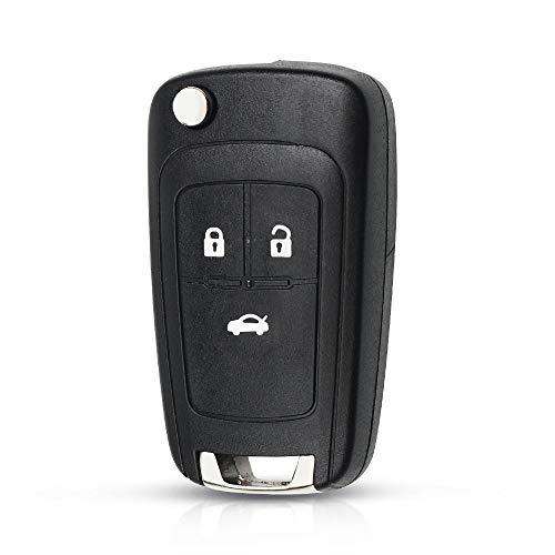 Carcasa para llave de coche con 3 botones para Opel Astra J Zafira B Insignia Adam Astra J Cascade Karl Zafira C HU100