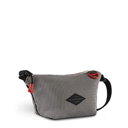Sherpani Demi, Small Crossbody Bag, Nylon Mesh Purse, Fashion Crossbody Purse, Essential Shoulder Bag, Stylish Cross Body, Mesh Bag for Women (Stone)