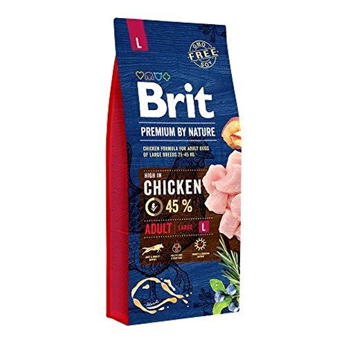 Brit Premium By Nature Adult L per Cani Adulti di Taglia Grande - 15 kg