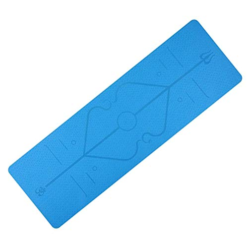 JSSEVN Fitness multifunctionele mat, mat voor fitnessapparatuur, kan worden gebruikt als een beschermende mat tijdens training, vloerbeschermende mat voor crosstrainers, loopband en andere trainingsapparatuur