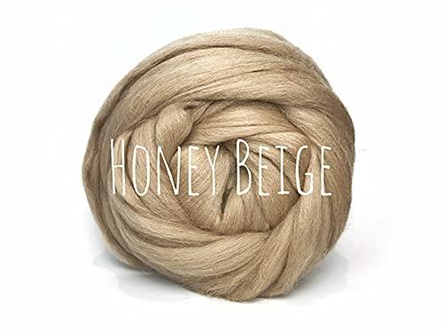 Lana gruesa – color beige dorado – para tejer manta gruesa tejiendo...