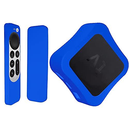 Funda Protectora de Silicona para 2021 New TV 4K 6th Control Remoto, Caja decodificadora + Caja de Control Remoto + cordón (F)