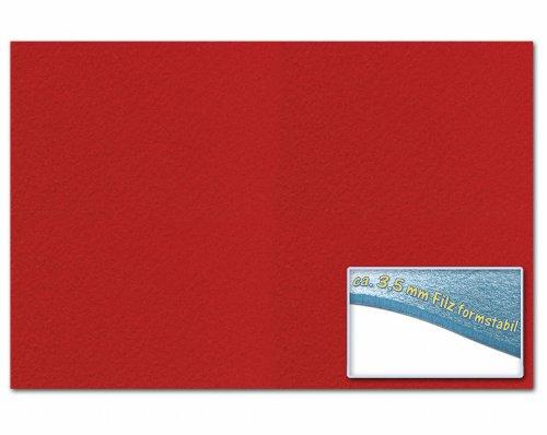 folia 510320 - Bastelfilz 3,5 mm, ca. 30 x 45 cm, 1 Bogen, hochrot, formstabil, klebefleckenfrei - ideal für vielfältige Bastelarbeiten