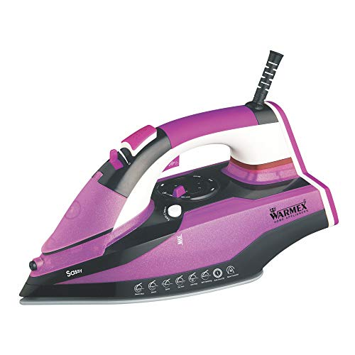 Warmex Home Appliances Sassy 2200 Watts Steam Iron with Spray and Self Cleaning Function, Purple