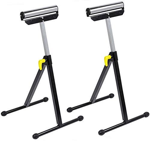 Forest Master - 2 bloques de caballete de 30 cm de ancho con ruedas plegables de altura regulable + plegable máx. 60 kg.