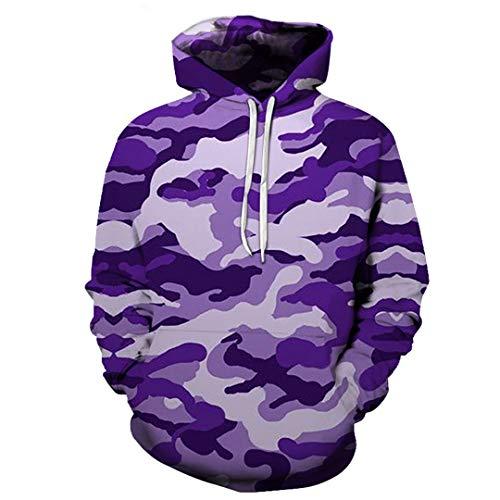Schutzhuly Maple Leaves Camouflage 3D Hoodies Männer Frauen Outdoor Angeln Camping Jagd Kleidung Hooded Coats Tops C-4 XXL