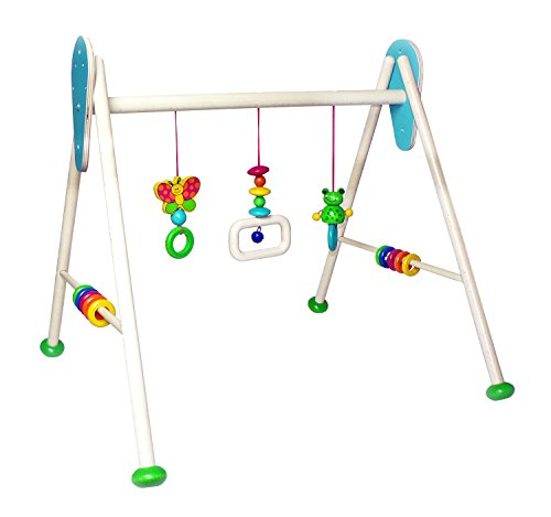 Hess Wooden Baby Activity Baby Gym Frog Toni Toy,
