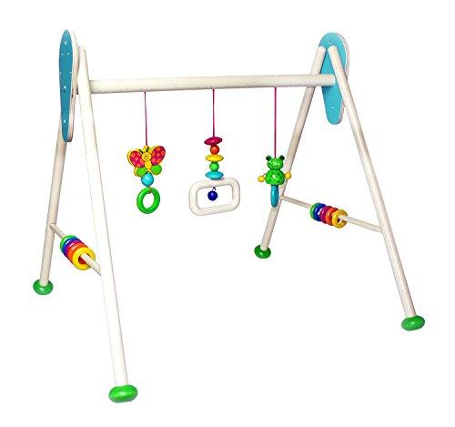 Hess Holzspielzeug 13372 - Babyspielgerät aus Holz, Frosch, ca. 62 x 55 x 50 cm