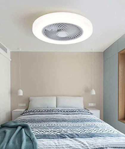 Ventilador de techo LED con iluminación para habitación infantil moderna,luz de ventilador de techo invisible regulable,ventilador de techo, iluminación de ventilador para dormitorio,Ø45 CM