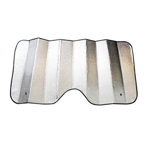 Grote zilveren auto voorruit zon schaduw, dubbelzijdige zonneklep dikker aluminium folie anti-verblinding beschermen de auto tegen letsel