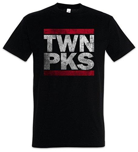 Urban Backwoods Twn Pks Herren T-Shirt Schwarz Größe XL