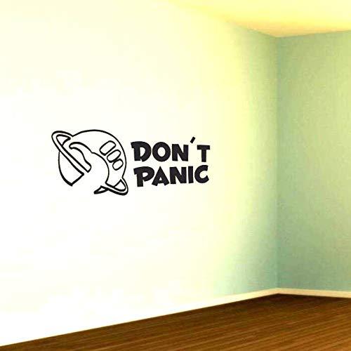 Adesivo de Parede Don't Panic Guia do Mochileiro das Galáxias