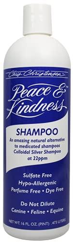 Chris Christensen Shampoo for Dogs - All Natural Peace & Kindness Shampoo - Dog Shampoo for Skin Problems - Colloidal Silver Shampoo