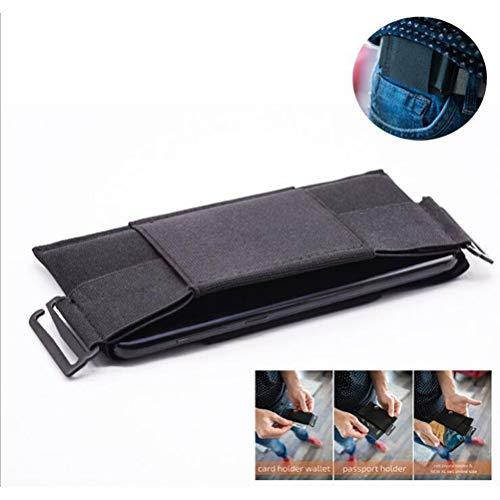 Ourine Invisible Wallet Unisex Gürteltasche, Minimalist Invisible Wallet Unisex Gürteltasche Mini Pouch für Key Card Phone Black 4