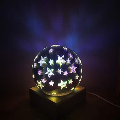 Mrinb Weihnachtsglaskugel-Lichter, bunte Glaskugel-Lampen-Lichter der Stern-Bereich-3D, magische Nachtlicht-Kugel-Lampe, USB wieder aufladbar für Partei, Garten, Patio, Baum, Innen- und im Freien