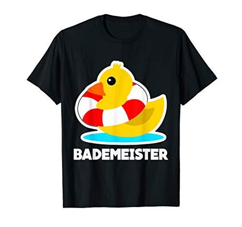 Bademeister Bade Ente und Rettungsring T-Shirt