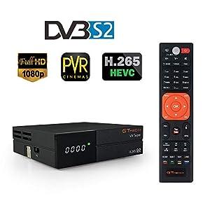 GT Media V9 Super DVB S2 Decodificador, Satélite Receptor de TV Digital H.265 1080P Full HD WiFi Incorporado compatible con Ccam, Newcam, IPTV, Youtube, PVR, PowerVu, Dre y Biss Clave