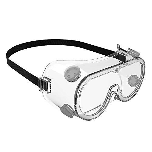 BYTGK G0425 Anti-mist volledig ingekapselde goggles zachte rubberen ademende veiligheidsbril werkbescherming spiegel platte spiegel
