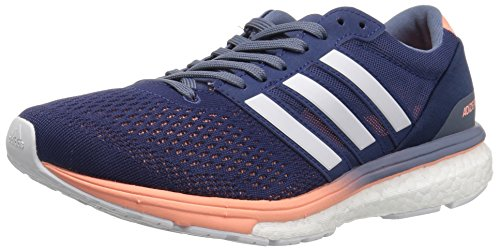 adidas Performance Women's Adizero Boston 6 w, Noble Indigo/White/Raw Steel, 7 M US
