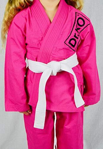 Dr. K.O. Kimono Jiu Jitsu BJJ GI Infantil Color Rosa (Rosa, M2)