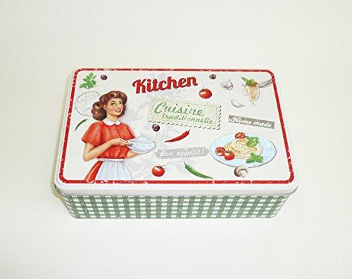AVENUELAFAYETTE Boîte à Sucre métal Vintage rétro Kitchen - Cuisine (Vert)