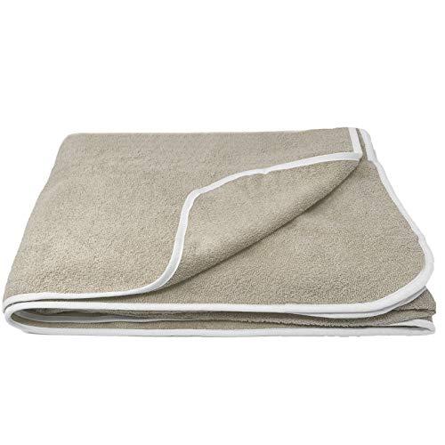 Homelewel XXL - Telo mare in spugna in 3 misure, 100% cotone, per partner e famiglie, Cotone, beige., 150 x 200 cm