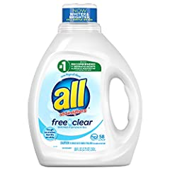 all free clear is the #1 recommended detergent brand by dermatologists, allergists and pediatricians for sensitive skin. 100% free of perfumes and dyes, all free clear is tough on stains, gentle on skin. Use with all Free Clear fabric softener and dr...