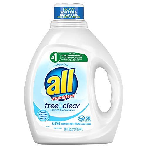 all Liquid Laundry Detergent, Free Clear for Sensitive Skin (88oz) $5.30