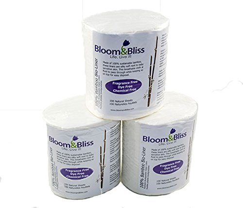 Bloom and Bliss 100 Percent Bamboo Bio-liners 3PK