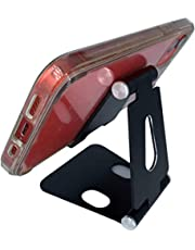 Shernax, Soporte Plegable metálico multiángulo para móvil con Base Antideslizante y diseño ergonómico Que Puede ajustarse fácilmente a Cualquier orientación.
